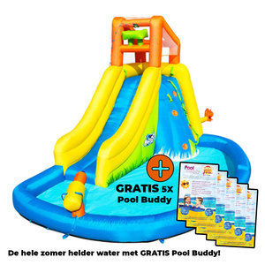 Bestway Waterspeelpark H2OGO! Mount Splashmore + 5x GRATIS Pool Buddy