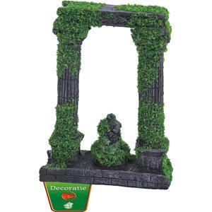 Gebr. de Boon Ornament Polyresin Ruïne 2x zuil met beeld en mos 12 cm