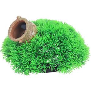 Gebr. de Boon Ornament Bubbel Green Moss Plant en Pot met Uitstromer 21 x 9,5 cm