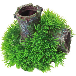 Gebr. de Boon Ornament Bubbel Green Moss Plant op Gezonken Buis met Uitstromer 11 cm