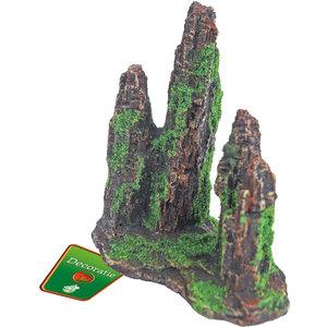 Gebr. de Boon Ornament Polyresin Rotszuilen met Mos 15 cm