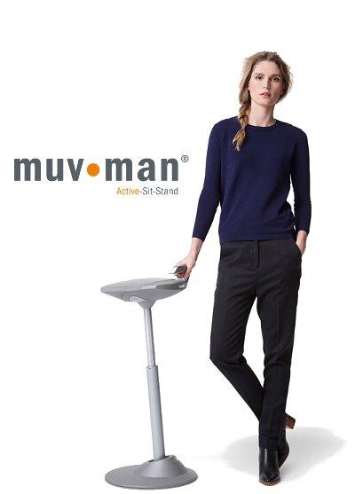 Muvman en een zit sta bureau de ideale combinatie