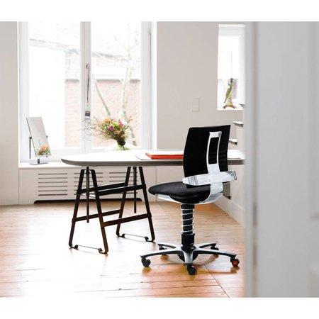 3Dee stoel grijs - frame zwart