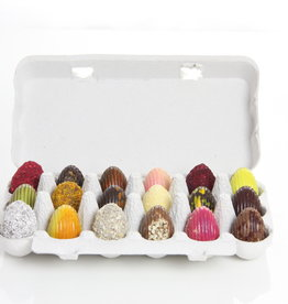 18 assorted chocolate Easter eggs