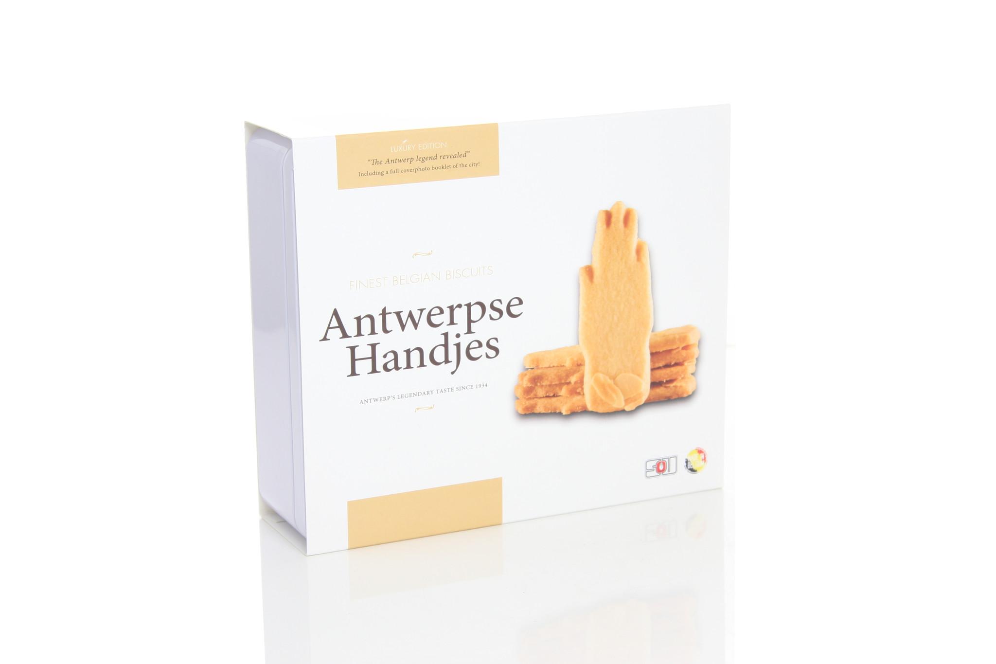 Antwerpse Handjes - biscuit - luxe blik