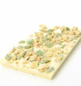 Witte chocolade met wasabi pinda's