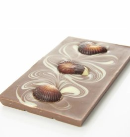 Milk chocolate with chocolate sea shells