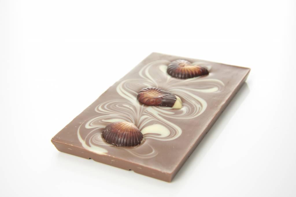 Tablet melkchocolade met zeevruchten