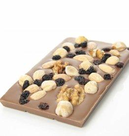 Melkchocolade met studentenhaver