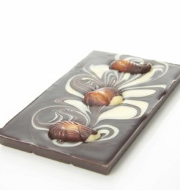 Dark chocolate with chocolate sea shells