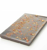 Tablet pure chocolade met chilipeper