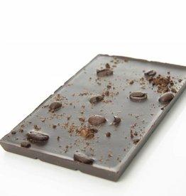 Pure chocolade met geroosterde koffieboon