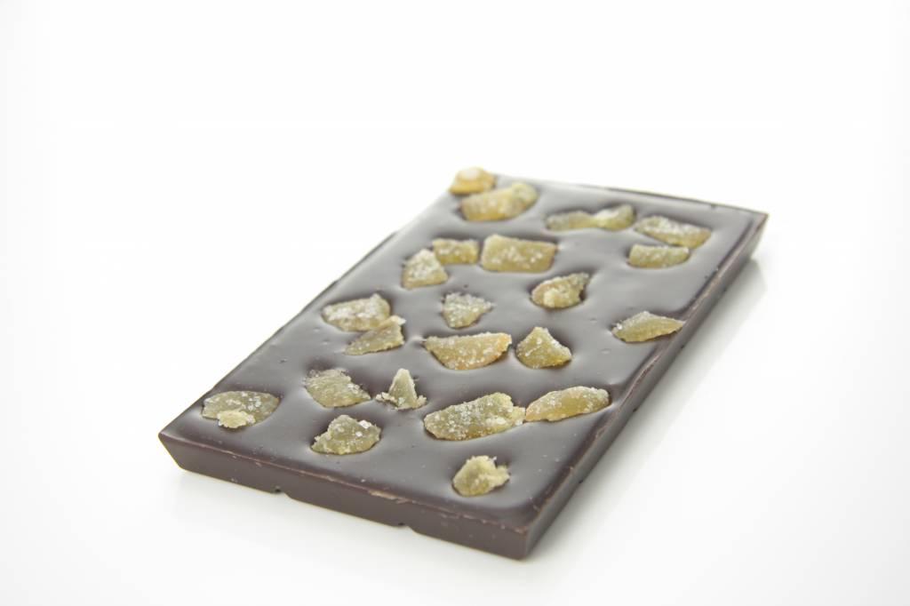 Tablet pure chocolade met gember