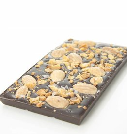 Dark Chocolate with Almonds, Caramel and Sea Salt