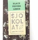 Pure chocolade met citroen en zwarte peper