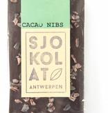 Tablet pure chocolade met cacao nibs