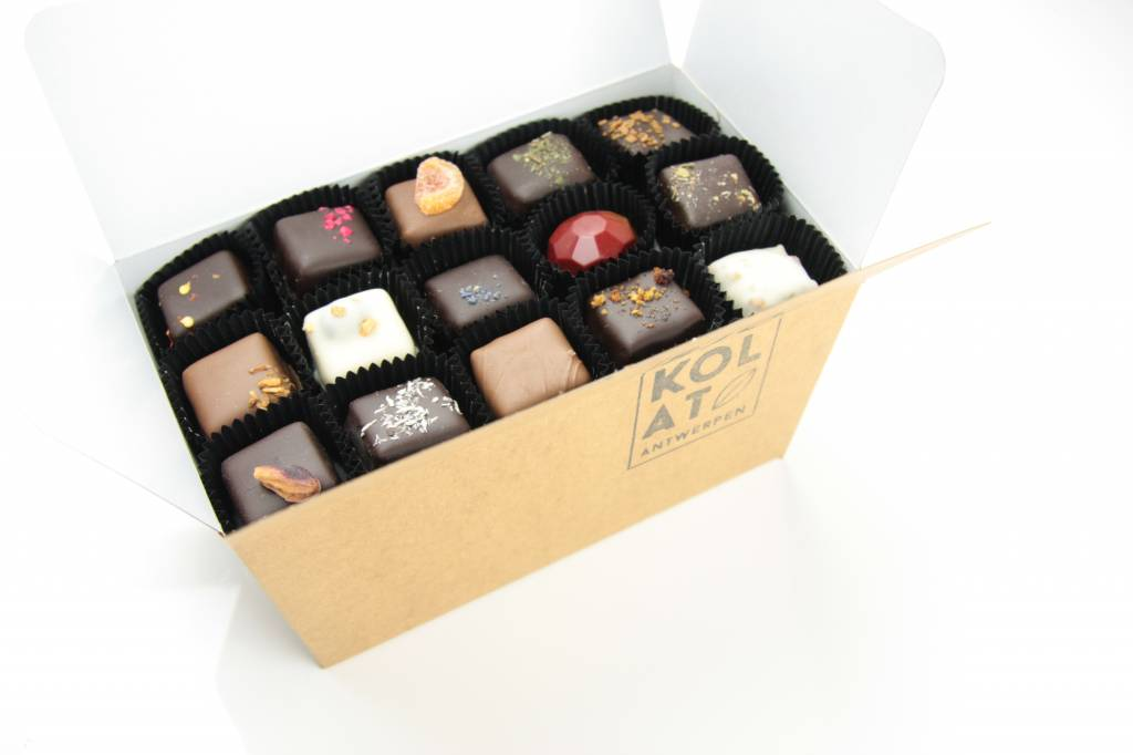 Assortment of 99 handmade chocolates