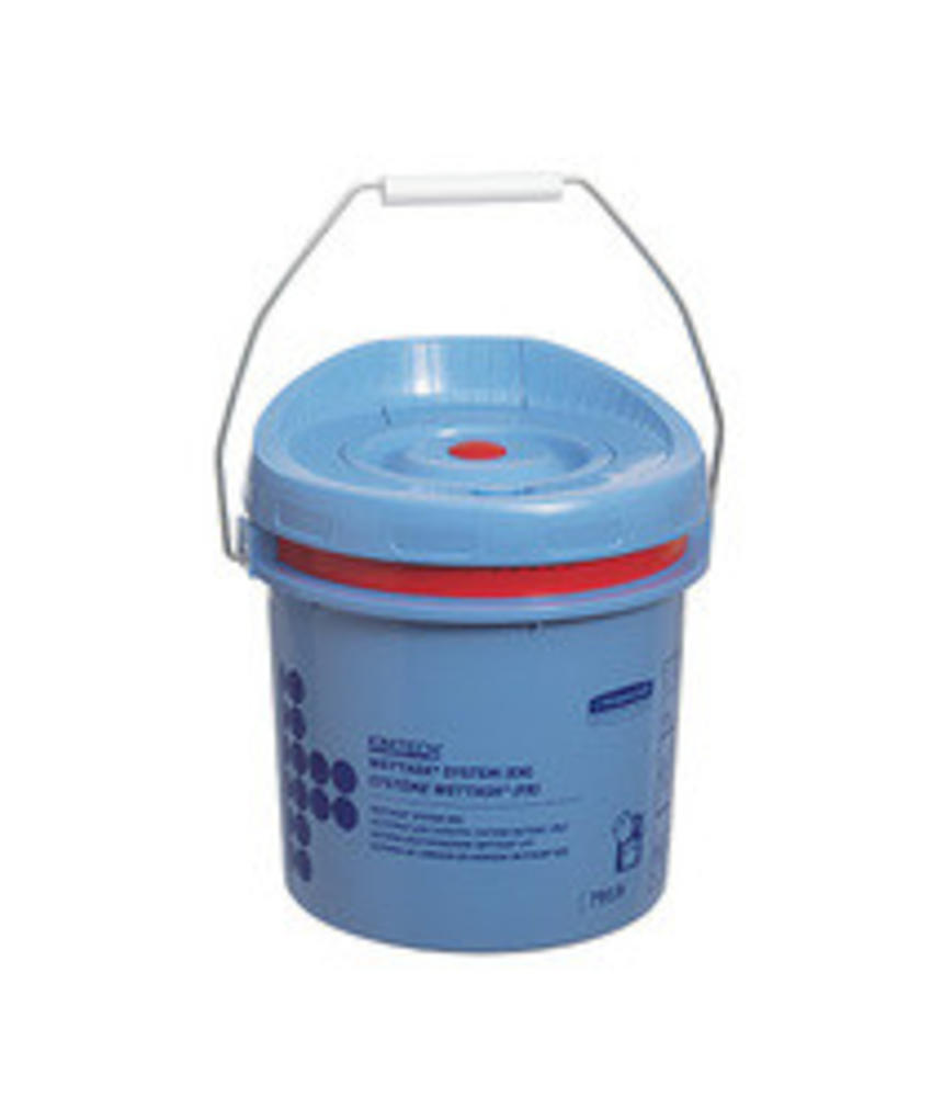 WETTASK* Poetsdoek Dispenser - Emmer - Blauw