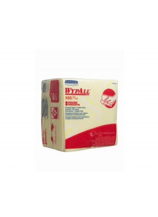 WYPALL* X80 Plus Sopdoeken - 1/4 Gevouwen - Geel