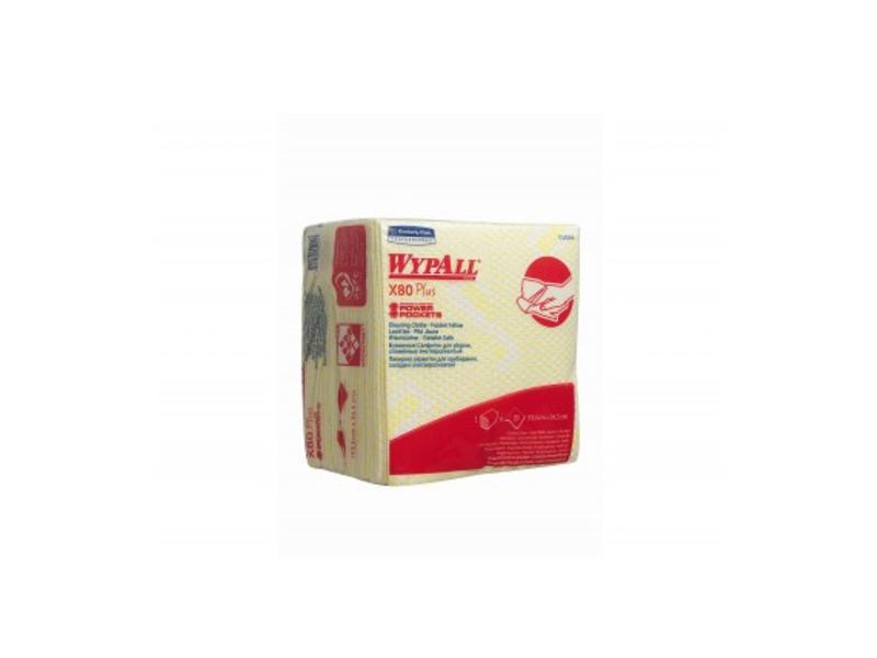 Kimberly Clark WYPALL* X80 Plus Sopdoeken - 1/4 Gevouwen - Geel