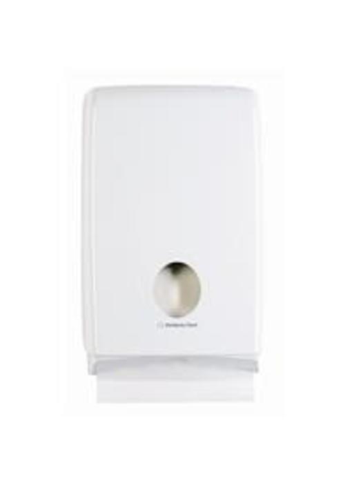 AQUARIUS* SLIMFOLD Gevouwen Handdoek Dispenser - Wit
