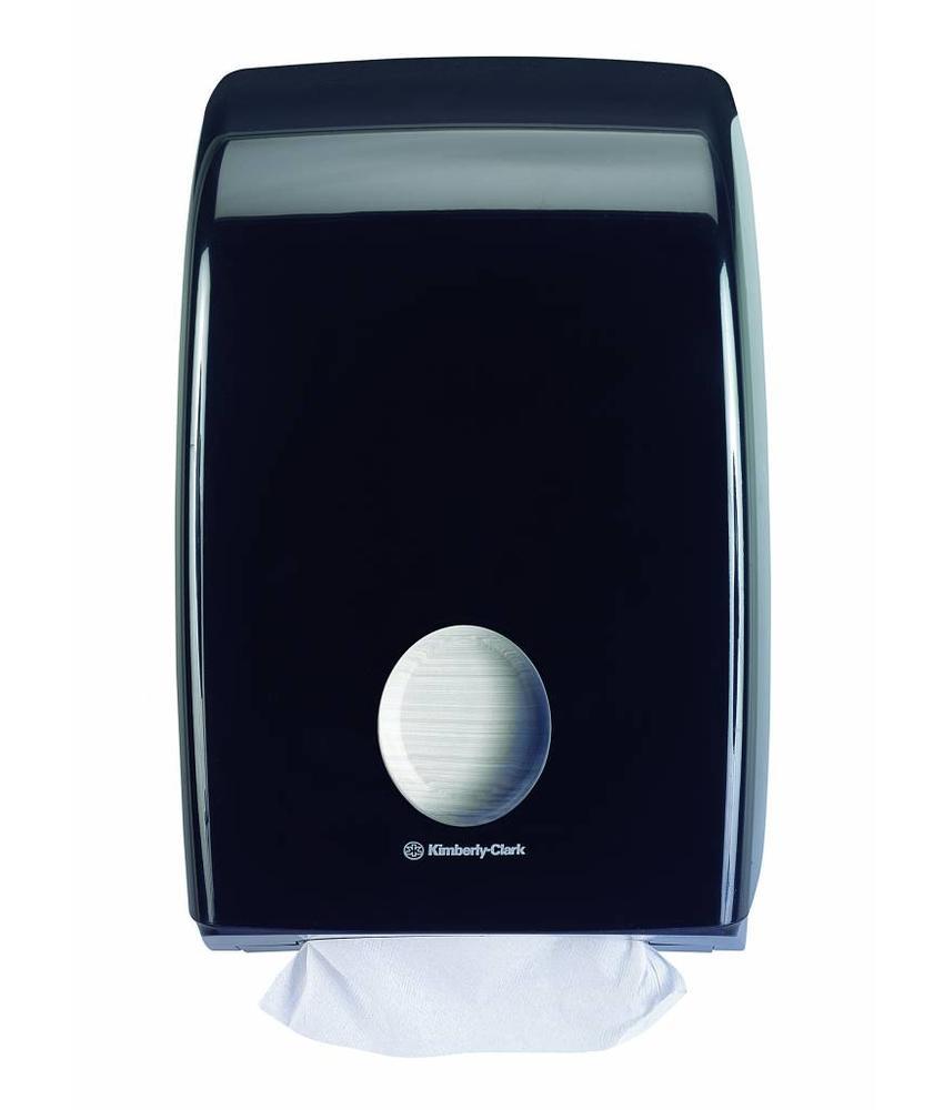 AQUARIUS* Gevouwen Handdoek Dispenser - Intergevouwen - Zwart