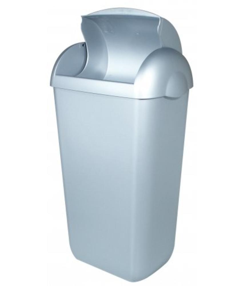PlastiQline Hygienebak kunststof RVS look
