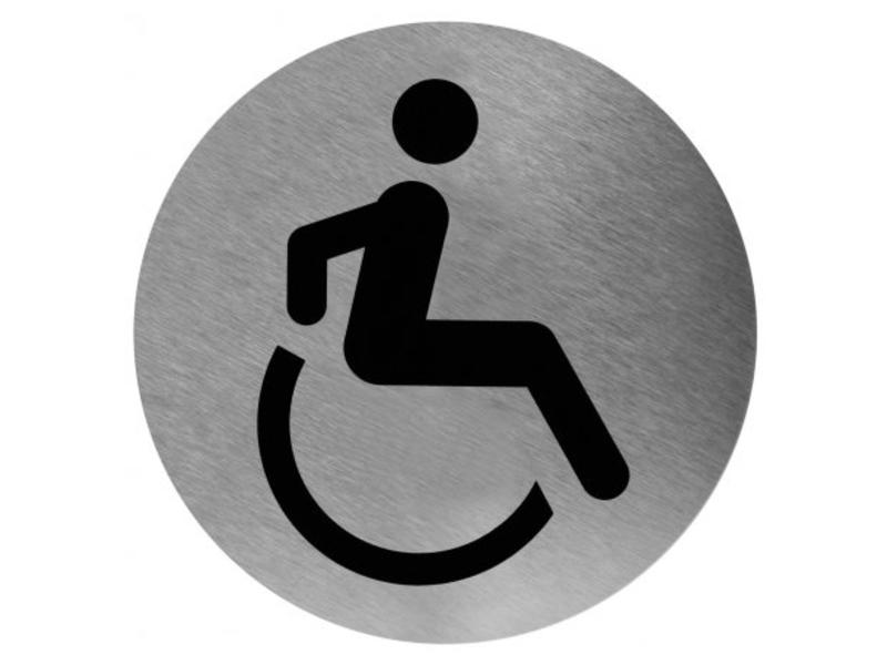 Mediclinics Medicare Pictogram invalide toilet RVS