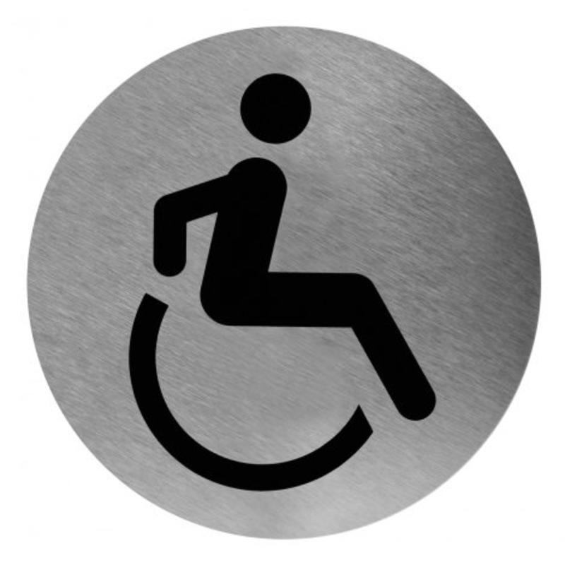 Medicare Pictogram invalide toilet RVS
