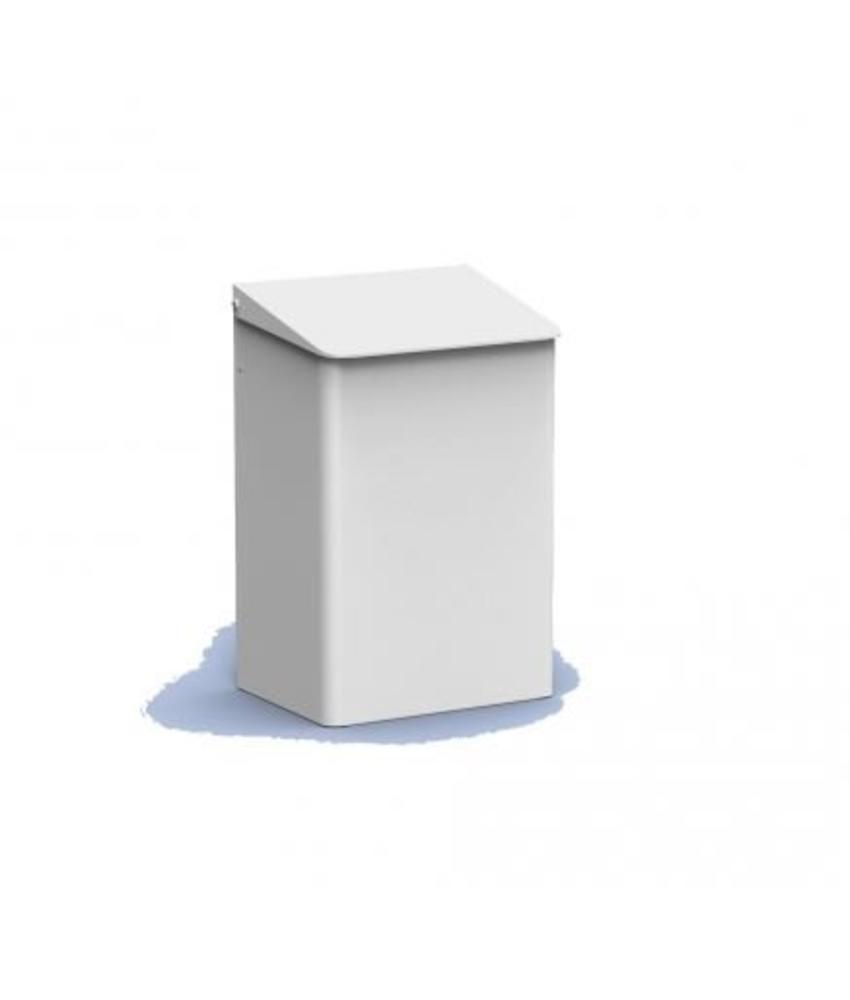 PlastiQline Afvalbak 15 liter wit