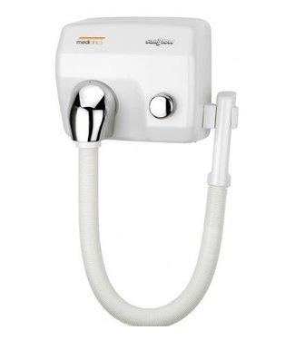 Mediclinics Mediclinics Haardroger drukknop wit met slang