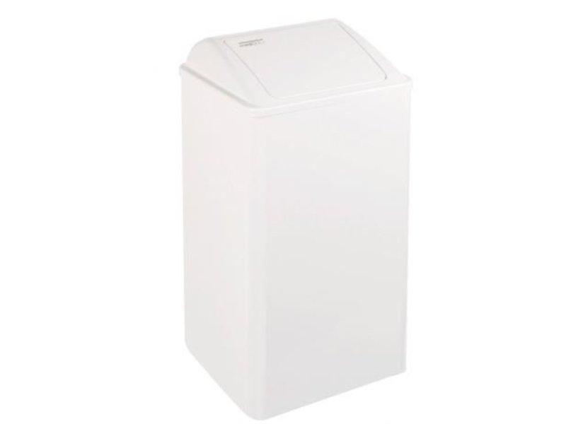 Mediclinics Mediclinics Afvalbak gesloten 65 liter wit