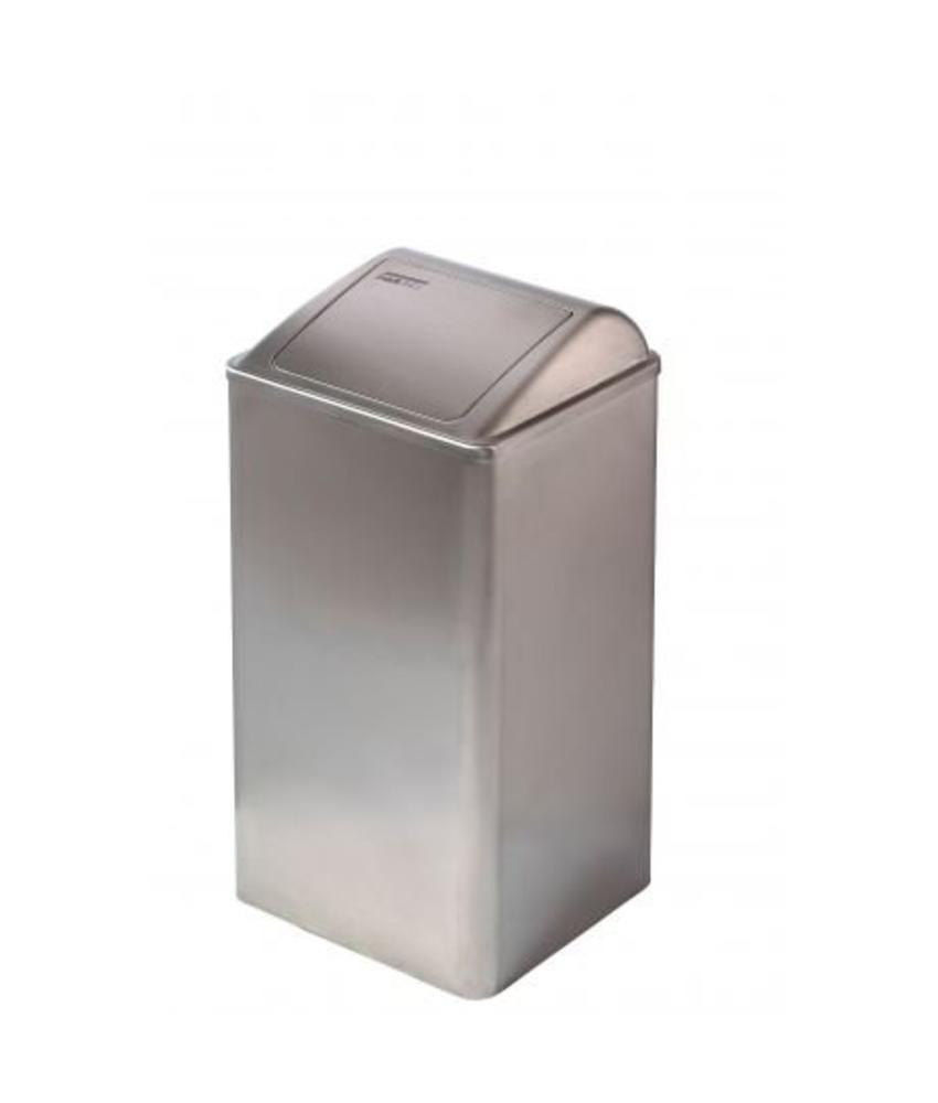 Mediclinics Afvalbak gesloten 65 liter RVS