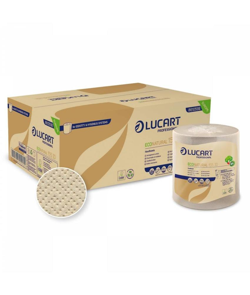 Lucart Eco Natural Handdoekrol Recycled 2-laags - 6 rollen