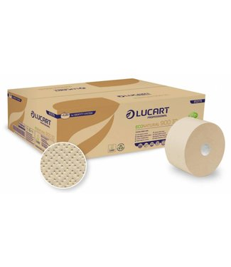 Lucart Lucart Jumbo Toiletpapier Eco Natural Recycled 2-laags - 12 rollen