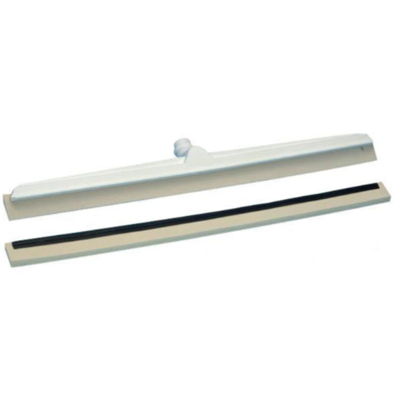 Vloertrekker met flexibele trekker en witte rubbers - 400 mm