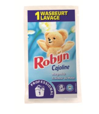 Johnson Diversey Robijn Prof. Wasverzachter Sachets Morgenfris 50 ml / 1 wasbeurt - ds 100 st.