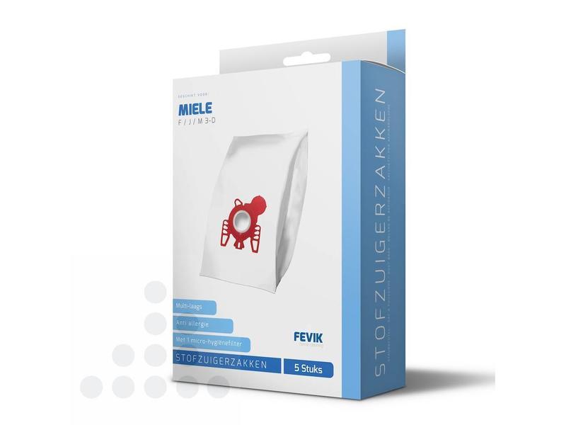 Eigen merk Stofzuigerzakken Miele F/J/M 3-D filterplus - 5 stuks + filter