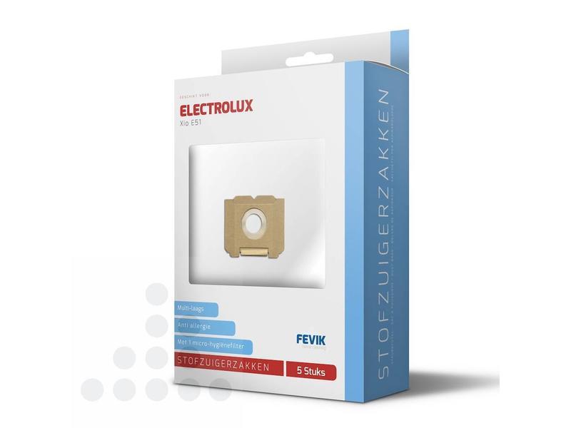 Eigen merk Stofzuigerzakken Electrolux Gr.5 Xio E51 filterplus - 5 stuks + filter