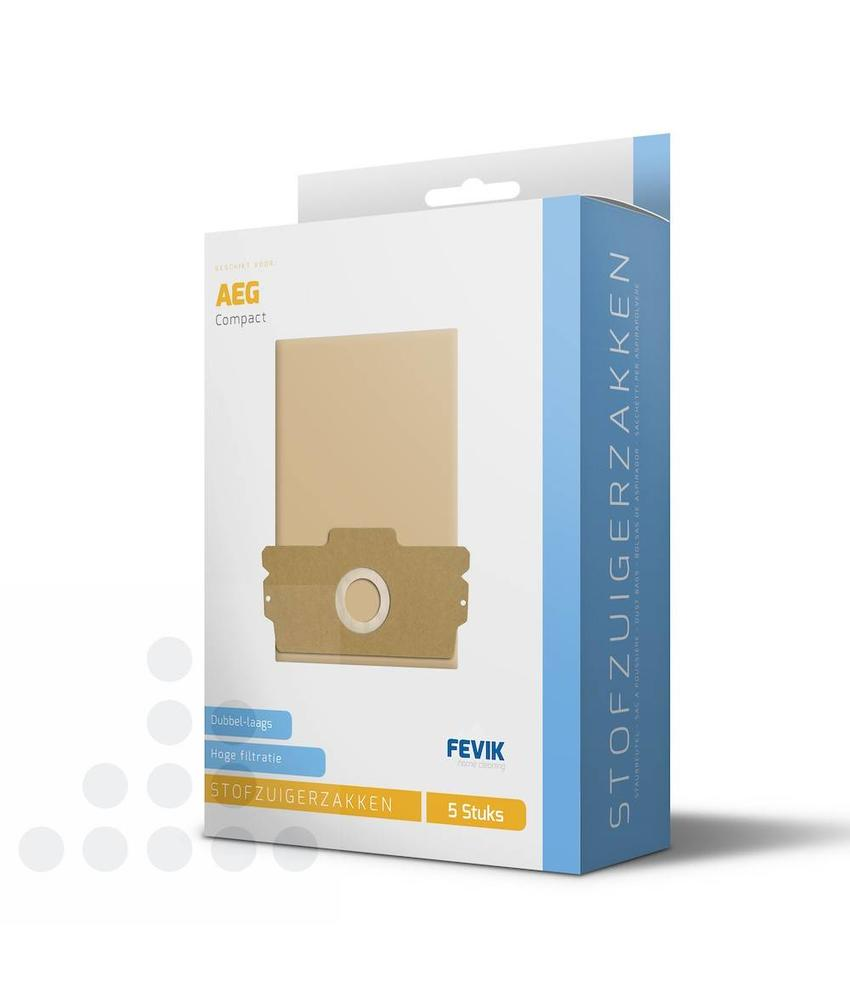 Stofzuigerzakken Aeg Compact 406 papier - 5 stuks