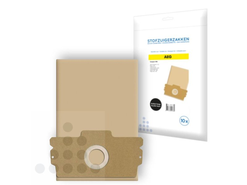 Eigen merk Stofzuigerzakken Aeg Compact 406 papier - 10 stuks