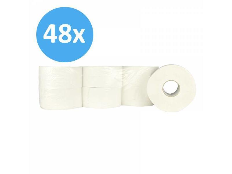 Eigen merk PALLET Toiletpapier Jumbo mini, 2-laags, cellulose, 12x 180m