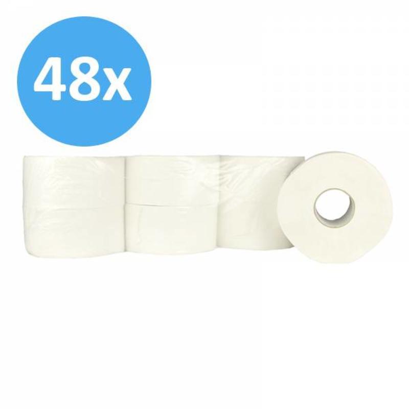 Toiletpapier Jumbo mini, 2-laags, cellulose
