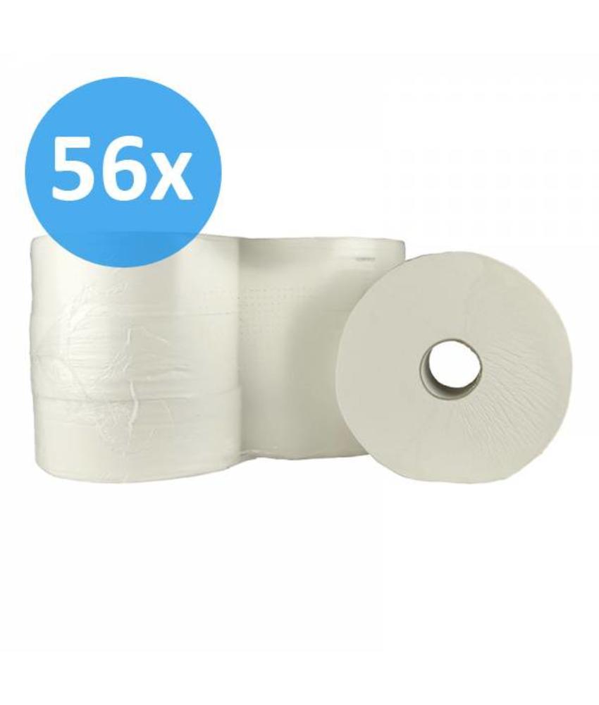 Toiletpapier Jumbo maxi, 2-laags, cellulose