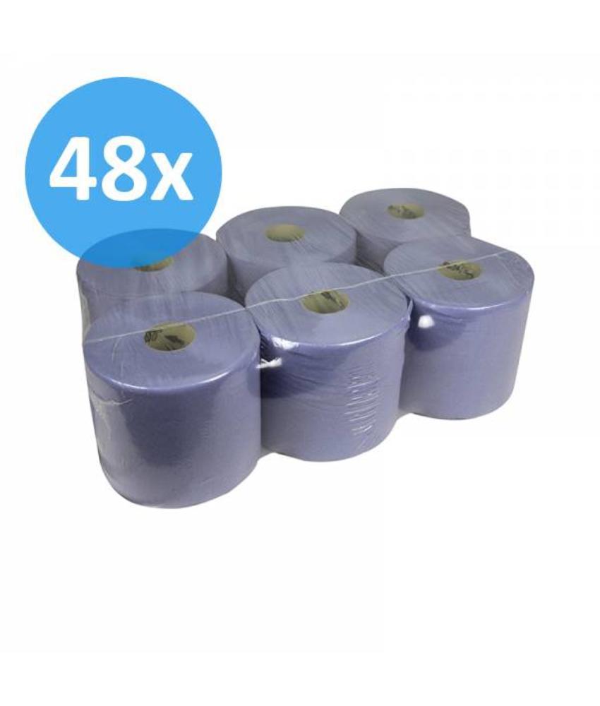 Poetsrollen Midi, 1-laags, recycled blauw