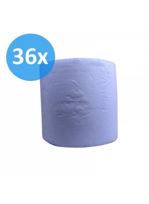 Industrierollen, 3-laags, verlijmd blauw