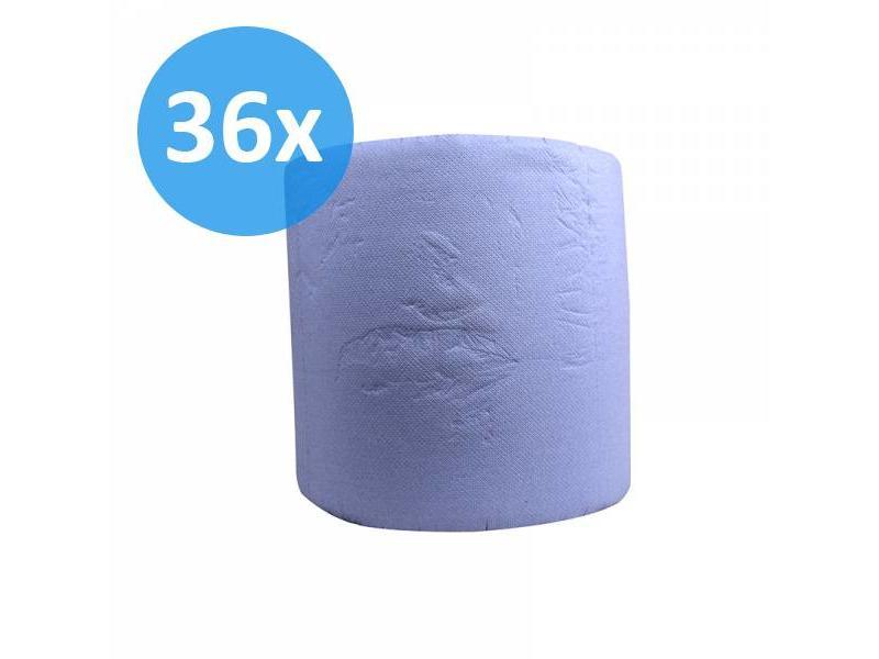 Eigen merk PALLET Industrierollen, 3-laags, verlijmd blauw, 36cm, 380m