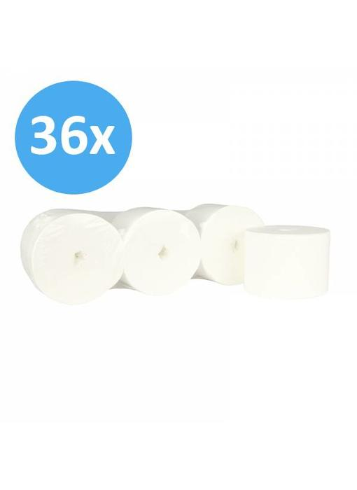 Toiletpapier Coreless 2-laags, cellulose wit, 900 vel