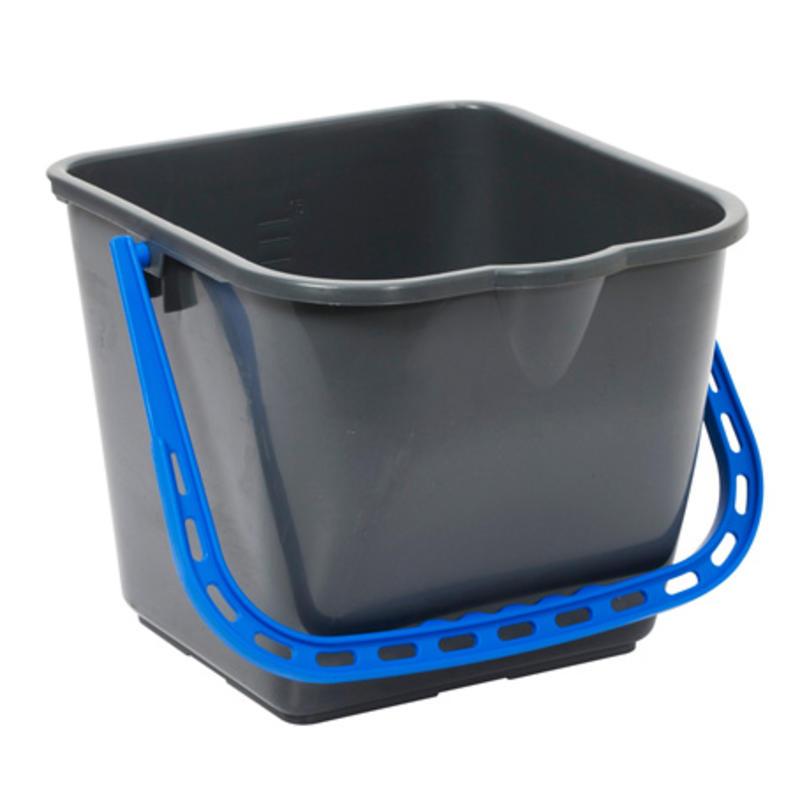 TASKI emmer 15 liter -blauw handvat - per stuk