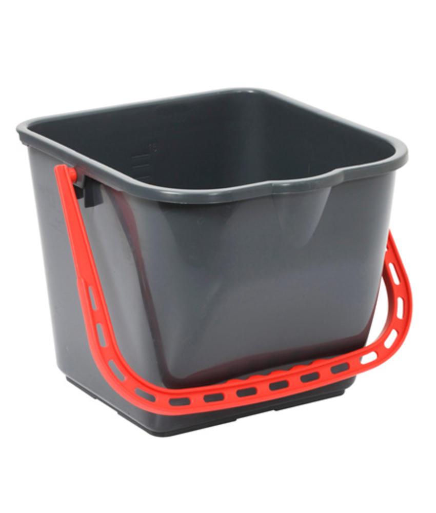 TASKI emmer 15 liter - rood handvat